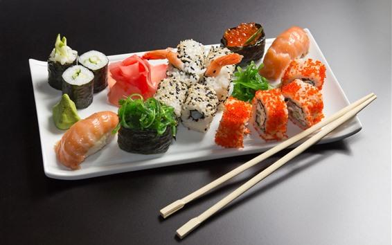 Fondos de pantalla Deliciosa cocina japonesa, sushi, comida.