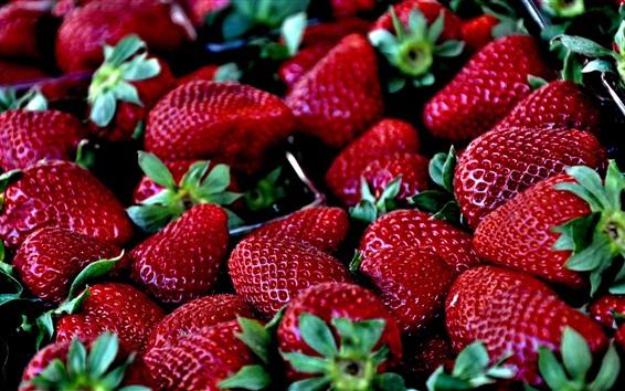 Fondos de pantalla Deliciosa fresa, bayas, fruta jugosa