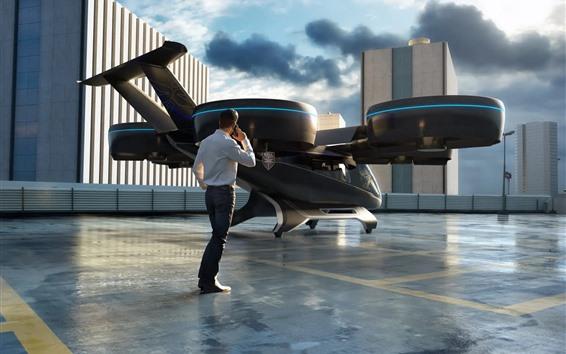 Wallpaper Future car, Bell Nexus flying car