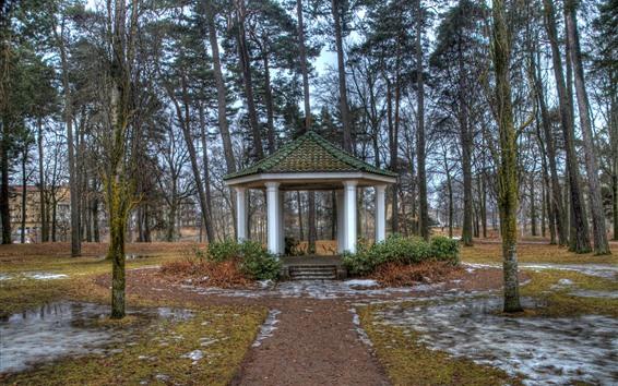 Fondos de pantalla Mirador, árboles, parque