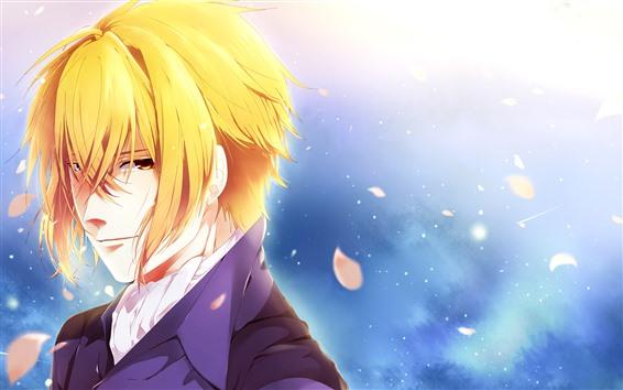 Papéis de Parede Menino dourado do anime do cabelo