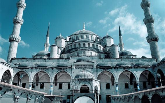 Fondos de pantalla Gran Mezquita, Estambul, Turquía