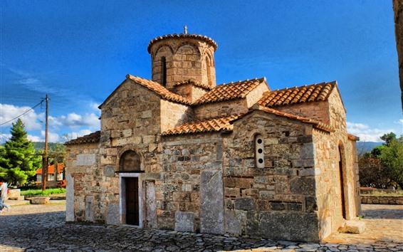 Fondos de pantalla Grecia, casa antigua