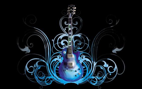 Fondos de pantalla Guitarra, fondo abstracto