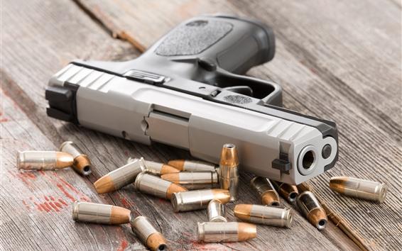 Fondos de pantalla Pistola, arma, balas
