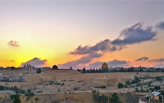 Fondos de pantalla Ciudad santa jerusalén, israel