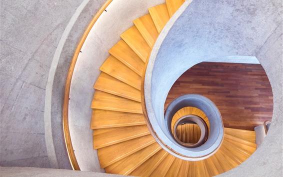 Fondos de pantalla Interior, escaleras, espiral