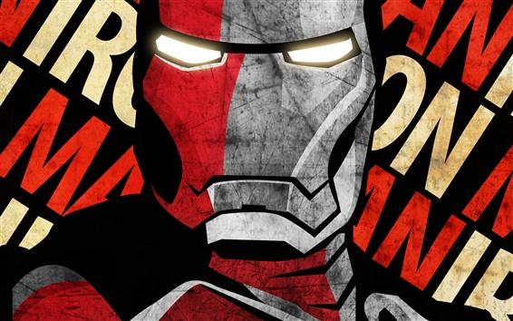 Wallpaper Iron Man, face, art picture