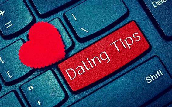 Wallpaper Keyboard, red love heart