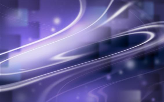 Fondos de pantalla Curvas de color púrpura claro, líneas, abstractas