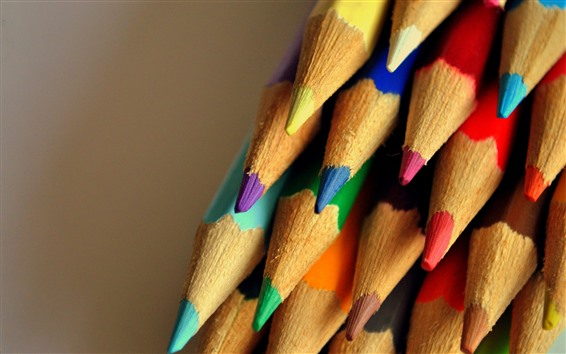Wallpaper Many colorful pencils, crayons