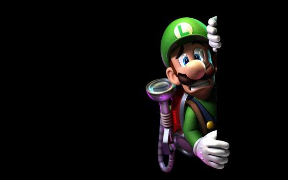 Fondos de pantalla Mario, videojuego, fondo negro.