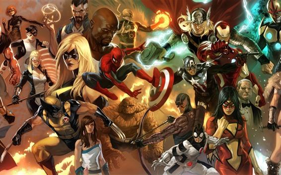 Fondos de pantalla Cómics de Marvel, superhéroes, imagen artística
