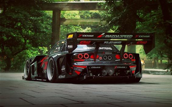 Papéis de Parede Opinião traseira do carro de corridas de Mazda RX-7 F1
