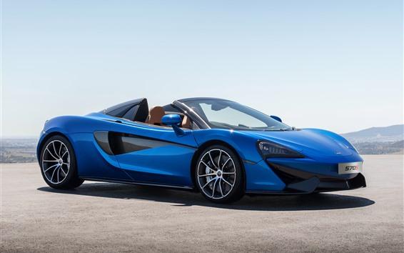 Обои McLaren 570S синий суперкар