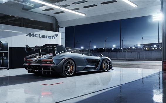 Fondos de pantalla Supercar McLaren Senna Victory Grey
