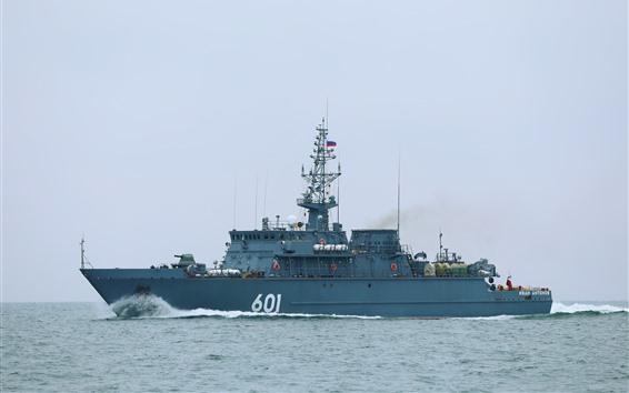 Fondos de pantalla Nave militar, mar
