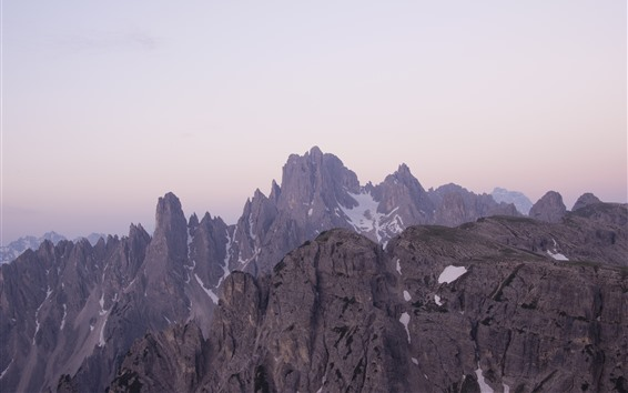 Fondos de pantalla Montañas, picos, nieve