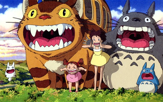 Wallpaper My Neighbor Totoro, Japanese anime