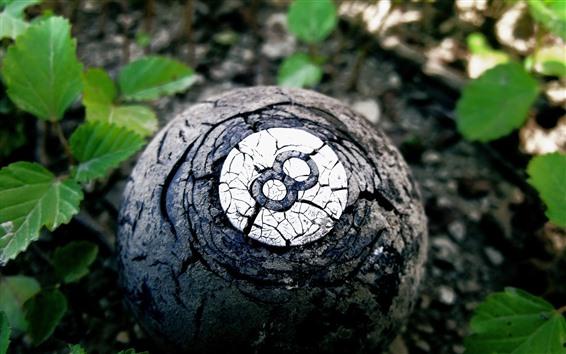 Обои Старый шар, числовой восемь