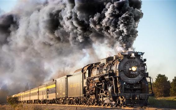 Wallpaper Old Train Smoke 1920x1200 Hd Picture Image