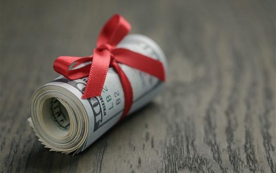 Fondos de pantalla Un rollo de dolares