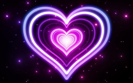 Wallpaper Pink neon love heart