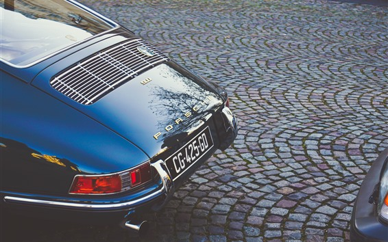 Fondos de pantalla Porsche 911 supercar vista trasera, retro