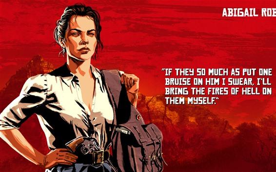 Fondos de pantalla Red Dead Redemption 2, chica