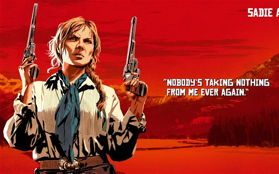 Wallpaper Red Dead Redemption 2, guns