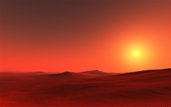 Wallpaper Red desert, sunshine