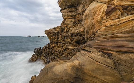 Fondos de pantalla Mar, rocas, textura