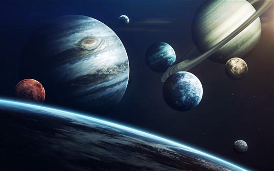 Wallpaper Solar system, planets, jupiter, universe
