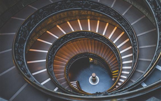 Fondos de pantalla Escaleras, espiral, interior