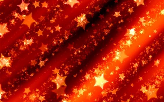 Fondos de pantalla Estrellas, brillo, rojo, cuadro abstracto