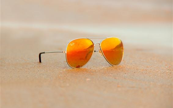 Fond d'écran Lunettes de soleil, plage, sable