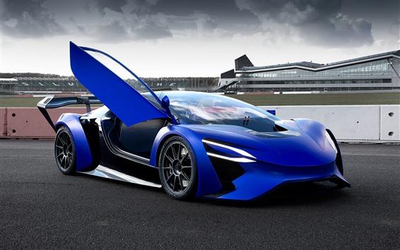 Fondos de pantalla TechRules AT96 concepto de coche azul
