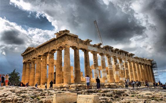 壁紙 旅行ギリシャ, 遺跡, 宮殿