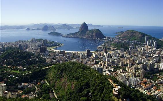 Papéis de Parede Viagem ao rio, Brasil, cidade, mar, Ilhas