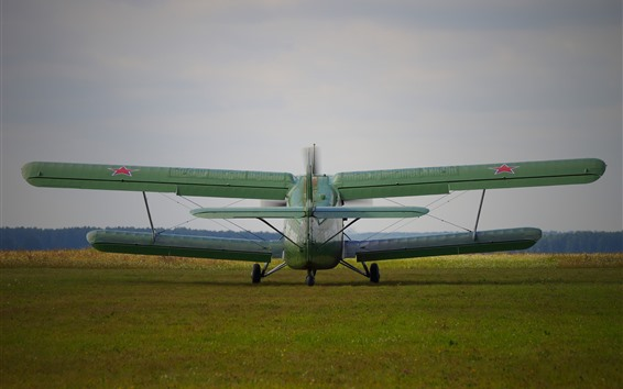 Wallpaper Antonov An-2 plane, back view, ground