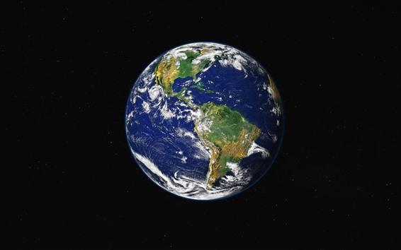 Papéis de Parede Terra bonita, terra, mar, espaço