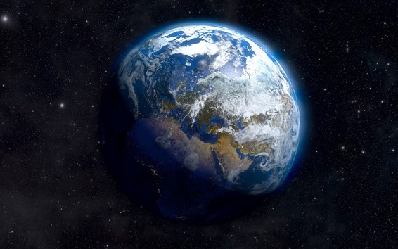 Wallpaper Beautiful Earth, space, stars