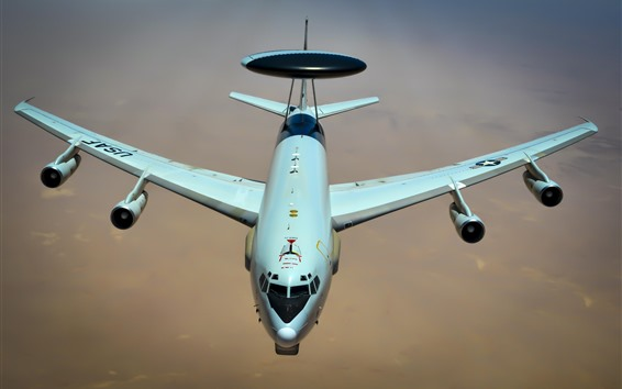 Wallpaper Boeing E-3 Sentry, AWACS aircraft, USAF