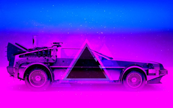 Wallpaper Car, blue and purple, art design