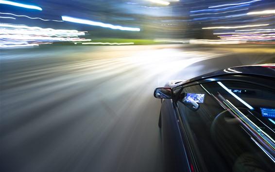 Papéis de Parede Carro, velocidade, linhas de luz