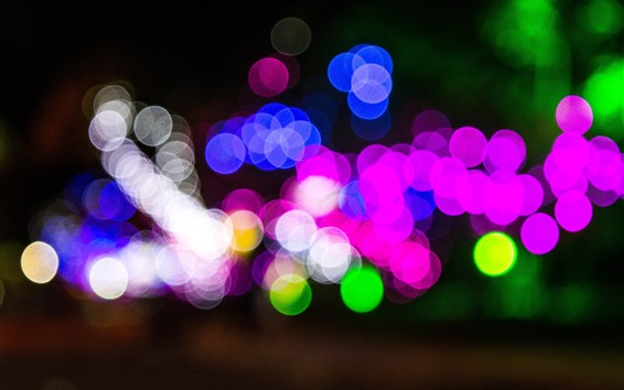 Fondos de pantalla Círculos de luz de colores, azul, rosa, verde, blanco