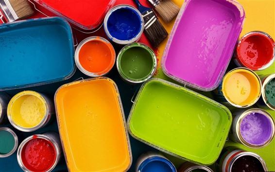Fondos de pantalla Pintura colorida, pinceles