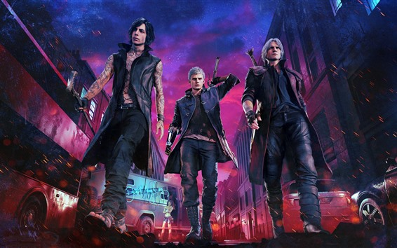 Wallpaper Devil May Cry 5, PS4 game