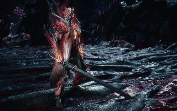 Papéis de Parede Devil May Cry 5, guerreiro, espada