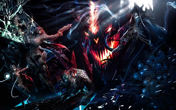 Wallpaper Diablo III, fight, game art picture